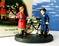 DEPT 56 Christmas in the City YOUR TELEGRAM, MA'AM!