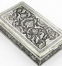 PERSIAN SILVER 290g BOX c1920 ISLAMIC ART Baron Stokes