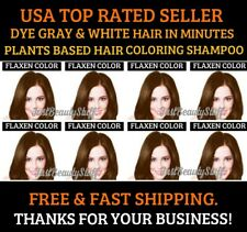 FLAXEN COLOR HERBAL HAIR DYE SHAMPOO COLOR GRAY&WHITE HAIR IN MINUTES UNISEX