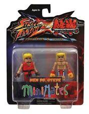 Street Fighter X Tekken S1 Minimates Ken VS Steve MINT