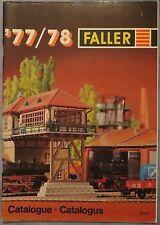 per Faller Modellismo Anno Catalogo 1977/78 3 lingue, engl-franz niederl