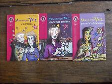 Mademoiselle Wiz et Dracula Passe à la télévision maîtresse sorcière / 3 livres