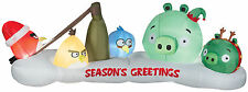 CHRISTMAS SANTA ANGRY BIRDS SCENE 10 FT  AIRBLOWN INFLATABLE YARD DECORATION