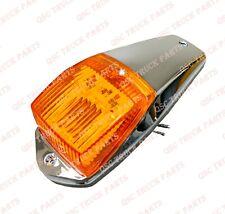 QSC Amber LED Cab Marker Lights w/ Chrome for Peterbilt Kenworth Freightliner