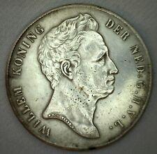 1840 Netherlands 2 1/2 Gulden Extra Fine Damage Obverse