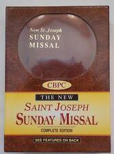 BNIB - New St Joseph Sunday Missal, Complete Edition - Leatherette Cover - MINT