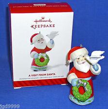 Hallmark Series Ornament A Visit From Santa #6 2014 Santa Claus with Dove Nib