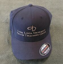Flexfit Cotton Baseball Cap Navy Blue Small/Med. Loma Linda Proton Center.