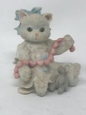 "Enesco Calico Kittens ""A Good Friend Warms The Heart� Cat Figurine 627984"