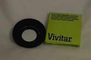 Vivitar Super Wide Collapsible Lens Hood 49mm Made in Japan With Box 603 O126024