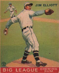1933 Goudey Jim Elliott Philadelphia Phillies #132 RC