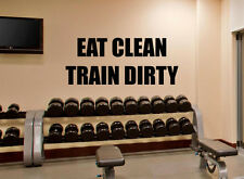 Gym Wall Decal Eat Train Fitness Motivation Vinyl Sticker Home Decor Quote 94fit