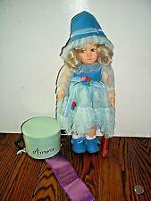 "Vintage Lenci Doll Felt 14"" DORIANA Original Box & Certificate"