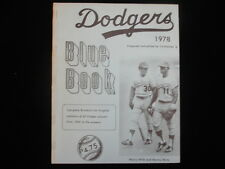1978 Los Angeles Dodgers Blue Book - Statistics Since 1900! - VG-EX
