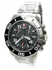 Swiss Military Hanowa 06-5262.04.007.01 checkerboard señores reloj Chrono acero inoxidable