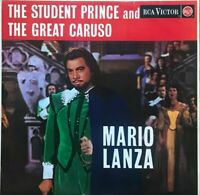 MARIO LANZA the student prince/great caruso RB-16112 RED SEAL RCA EXCELLENT COND