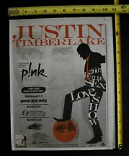Justin Timberlake The 2007 Future Sex Love Show Concert Ad Ny Nj Pink