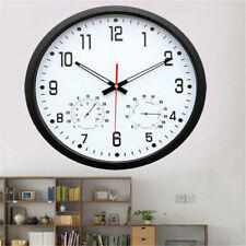 14'' Large Quartz Super Silent Wall Clock Home Office Shop Display Decor Round