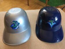 MiLB Mini Helmets Vermont Lake Monsters retired logo A's Minor League Silver