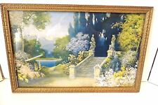 Old R Atkinson Fox Garden of Hope Print in Antique Frame