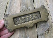 Antique Aesthetic Brass Letter Box Plate / Door Mail Slot / Mailbox