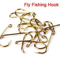 200pcs Fly Fishing Hooks 4 Sizes Fishing Trout Salmon Dry Fly Fishing Hook Tool