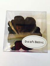 David's Bridal Cori Willet black Flower Pin