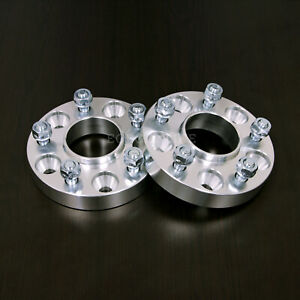 """2pc 1.25"""" HUBCENTRIC 5x4.75 Wheel Spacers - 7/16"""" Studs - for older Chevy Buick"""