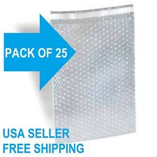 25 Polycell 12x155 Protective Wrap Bubble Out Bags Pouches Clear Self Sealing