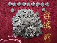 PJ106/ 20pcs Tibetan Silver Charms 2-Sided Love Heart retro Accessories