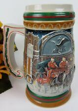 Budweiser Home for the Holidays 1997 Holiday Stein Mug CS313 ~ Ceramarte Brazil
