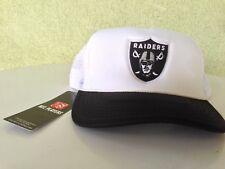 Oakland Raiders Embroidered Adjustable, Adult, Trucker Style, Mesh Hat
