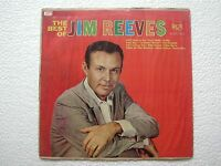 JIM REEVES THE BEST OF JIM REEVES 1st Pres RARE black LP record INDIA INDIAN VG-