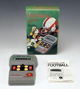 Vintage 1970s Football Electronic Game handheld w/ Original Instructions & Box