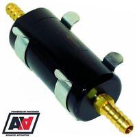 Sytec Motorsport In Line Fuel Filter 8mm Tails Carb Fuel Injection In Black ADV