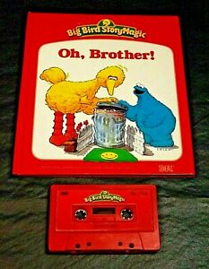 TALKING BIG BIRD STORY MAGIC IDEAL BOOK /TAPE OH BROTHER! WORKS