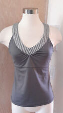 New York & Co Inmotion Sleeveless Grey Stripe Athletic Tank Built In Bra Small