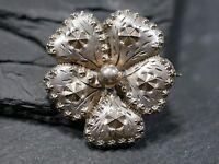 Wunderschöne Silber Brosche Blüte Blume Jugendstil Art Deco Kugel Elegant Edel