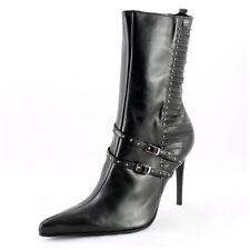 Buffalo Stiefel Gr. 41 High Heels Stiefeletten mit Schnallen und Nieten (#3202)