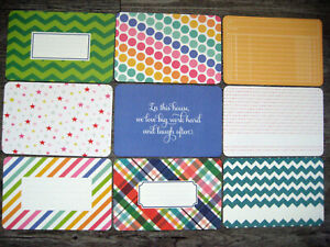 """PROJECT LIFE CARDS  -  6"""" X 4""""  -  SET OF 9"""