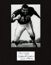 Les Richter (Dec) RARE NFL Hall of Fame Los Angeles Rams linebacker SIGNED CUT