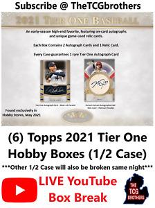 Philadelphia Phillies Break #325 Topps 2021 Tier One Hobby Box (6 Boxes 1/2 Case