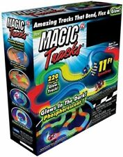 NEW MAGIC TRACK Racetrack 220 pcs Glow in the Dark Track LED LIGHT UP RACE CAR