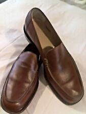 """*BRUNO MAGLI*   """"CAINE""""  Italian Tuscany Brown Mens size 12 Leather Loafer EUC"""