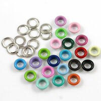 50  ROUND 6mm COLOURED EYELETS & WASHERS *13 COLOURS* LEATHER CRAFT REPAIR CRAFT
