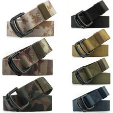 "7 Colors 1.5"" Mens Nylon Belt Double Loop Buckle Adjustable Casual Trousers Belt"