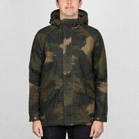 Volcom lane parca cam jacket man new M military giacca uomo camouflage T5083