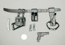 "1:6 Medicom British SAS Belt Pistol Pouch Set 12"" GI Joe BBI Hot DamToys Dragon"
