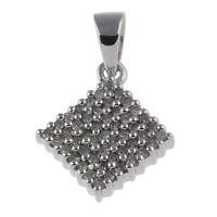 Anhänger echt Silber 925 Sterlingsilber rhodiniert mit Diamanten Kettenanhänger