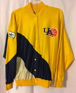 Vintage University Of Akron Zips Basketball Warmup Jacket MAC Patch Women's XL